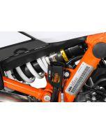 Rear brake fluid reservoir guard, black for KTM 890 Adventure/ 890 Adventure R/ 790 Adventure / Adventure R/ 1290 Super Adventure (2021-)