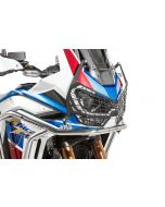 """Headlight protector black with quick release fastener for Honda CRF1100L Adventure Sports """"OFFROAD USE ONLY"""""""