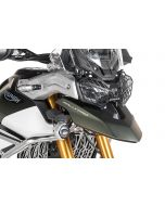 Headlamp guard black with quick release fastener for Triumph Tiger 900 *OFFROAD USE ONLY*