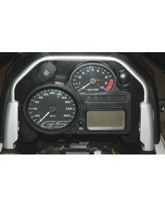 Kokpit panel s malou a veľkou zásuvkou pre BMW R1200GS / Adventure, od 2008