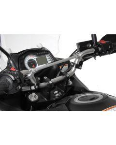 Zvýšenie riadidiel 30 mm / čierne Suzuki V-Strom DL 650