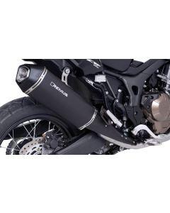 Remus Okami nerezová koncovka výfuku Honda CRF1000L Africa Twin 2017 s ABE certifikáciou, čierna